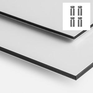 Aluminium (Dibond)  - 4 trous et entretoises de Fixation -