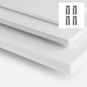Forex (PVC) - 4 trous et entretoises de Fixation -